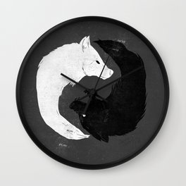 Feed the Wolves Wall Clock