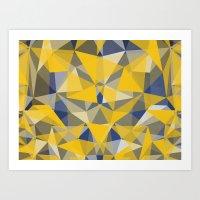 yellow pattern Art Prints featuring Yellow by jbjart