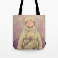 explore Tote Bags featuring Explore by Pope Saint Victor