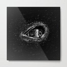 Wide awake, insomnia's eye in ink Metal Print