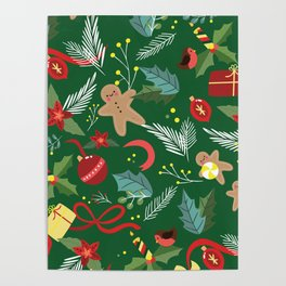 Christmas Pattern 14 Poster
