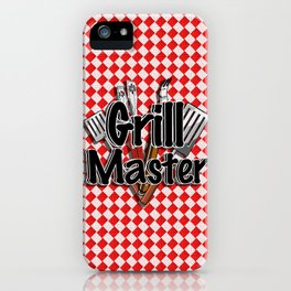 Grill Master with BBQ Tools iPhone Case
