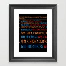 The Quick Orange Fox Framed Art Print