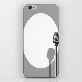 Musical Event Microphone Poster iPhone Skin