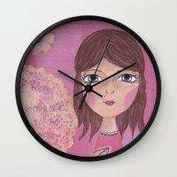 courage Wall Clocks featuring Courage by ArtByBeata