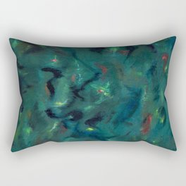 Creation of the Universe, Abstract painting by Marguerite Blasingame Rectangular Pillow