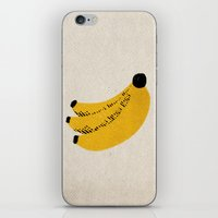 banana iPhone & iPod Skins featuring Banana by Roland Lefox