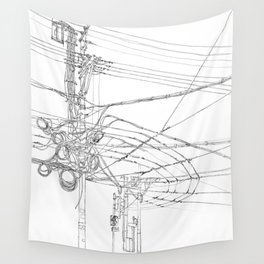 Shanghai. China. Cables symphony Wall Tapestry