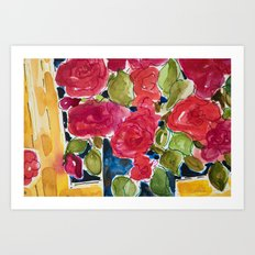 For the roses Art Print