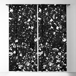 shattered pebbles, b&w Blackout Curtain