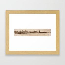 Brühlsche Terrasse Framed Art Print