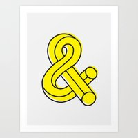 ampersand Art Prints featuring Ampersand by MADEYOUL__K