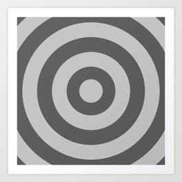 Target (Gray & Grey Pattern) Art Print