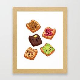 Cat Toasts Framed Art Print