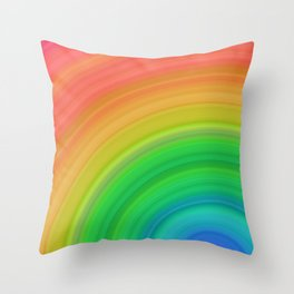 Bright Rainbow | Abstract gradient pattern Throw Pillow