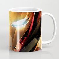iron man Mugs featuring IRON MAN IRON MAN by Smart Friend