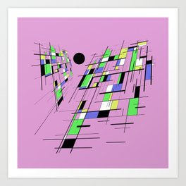 Bad perspective - Abstract, vector, geometric, 3D style artwork Art Print