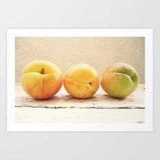 Other 3 appricots Art Print