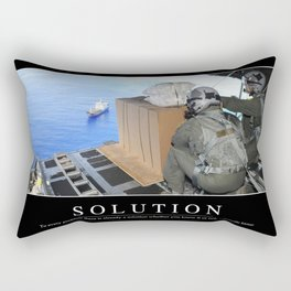 Solution: Inspirational Quote and Motivational Poster Rectangular Pillow
