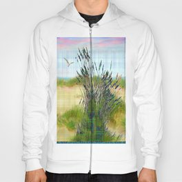 Plaid Beachscape with Seagrass Hoody