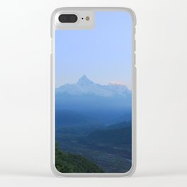The Sun Rises over the Himalayas Clear iPhone Case