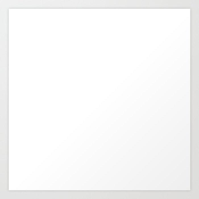 White Minimalist Solid Color Block Spring Summer Kunstdrucke
