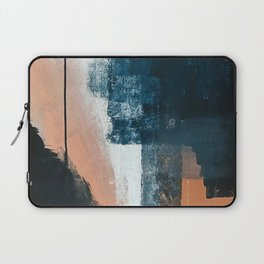 Vienna: a minimal, abstract mixed-media piece in pinks, blue, and white by Alyssa Hamilton Art Laptop Sleeve