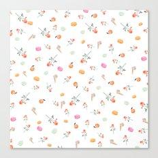 ROSES & MACARONS  Canvas Print