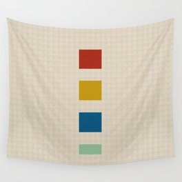 four elements || tweed & primary colors Wall Tapestry