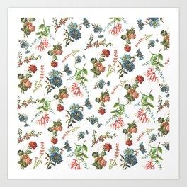 Antique Floral Pattern Art Print
