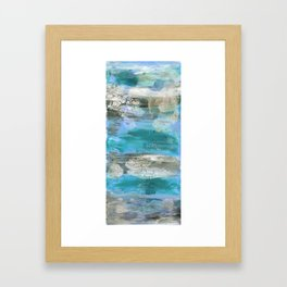 ROCK STUDY IN BLUES Framed Art Print