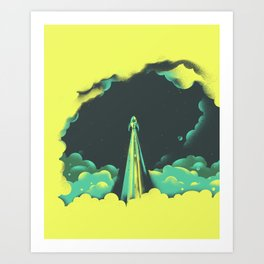 rad little rocket Art Print