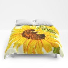 sunflower macro Comforters