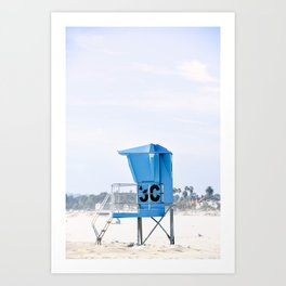 Lifeguard Stand 3C Art Print