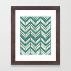 Weathered Chevron Framed Art Print