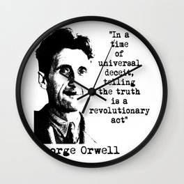 George Orwell Wall Clock