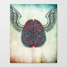 The brain's image Canvas Print