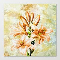vintage floral Canvas Prints featuring Vintage Floral by Colorful Art