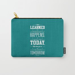 Lab No. 4 I've Learned That No Matter Maya Angelou Inspirational Quote Poster Carry-All Pouch