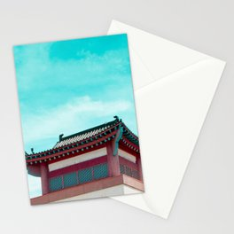 Travel photography Chinatown Los Angeles IV Temple Stationery Cards