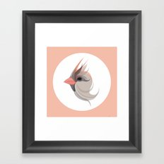 Pink in bird Framed Art Print