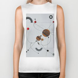 Abstract Composition 440 Biker Tank