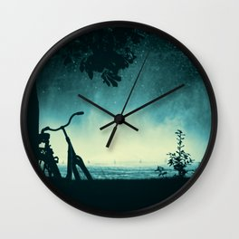 Bikes in Space Wall Clock