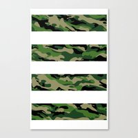 camo Canvas Prints featuring Camo by angelasoto