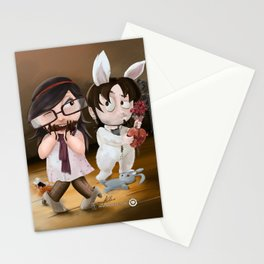 Easter. Gift and flowers Stationery Cards