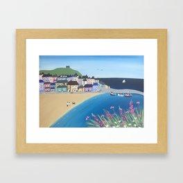 The Bay, Cornwall Framed Art Print