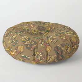Tiki Masks Floor Pillow