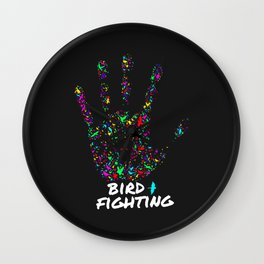 Stop Bird Fighting Wall Clock