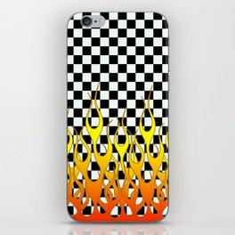 CHECKERED FLAMES iPhone Skin