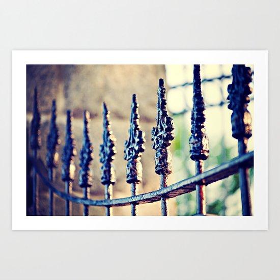 Fence Love Art Print
